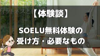 SOELU無料体験の受け方